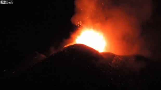 地球は生きている!エトナ火山の噴火映像!