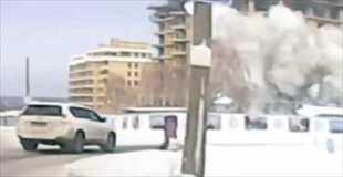 【動画】とある雪国での突然の出来事。