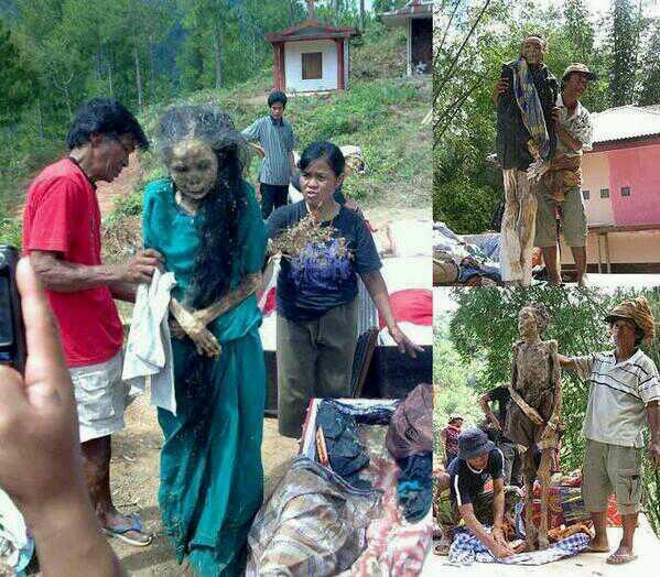 インドネシアで行われている死者の着替えの儀式