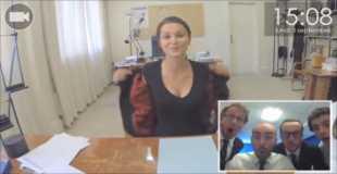 【動画】もしGoogleグラスを使って美女を面接したら…