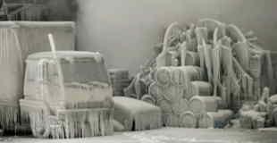【閲覧注意】凍死してしまった人や動物を収めたフォトムービー。
