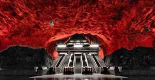 【画像】ストックホルムの地下鉄マジかっけえ!