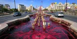 【画像】ルーマニアのを赤く染める血の噴水