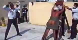 【動画】鞭打ちの刑でお尻が大変なことに
