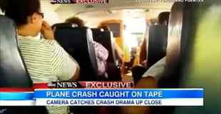 【動画】海に墜落した飛行機の内部映像怖すぎ