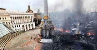【gif画像】ウクライナの町の暴動ビフォーアフターgif画像