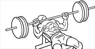 【画像】重すぎるベンチプレスを持ち上げたら筋肉が切れた