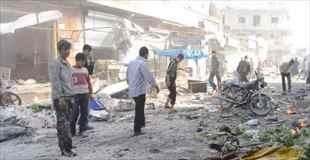 【動画】シリアの市場が爆破された直後の映像