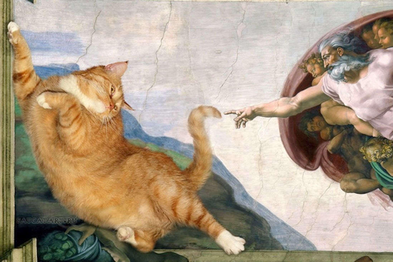 Michelangelo_-_Creation_of_cAt-dam-cat-wjpeg