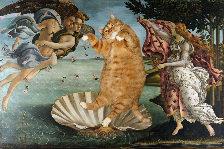 botticelli-the-birth-of-venus-cat-smjpeg