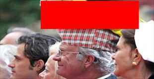 【画像】スウェーデン王は変な帽子ばかりを好んでいるみたい