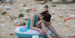 【画像】中国で海水浴場がただのゴミ捨て場だと話題に