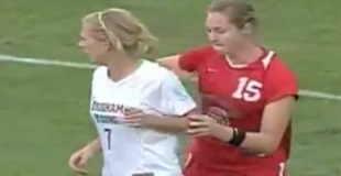 【動画】女子サッカーのラフプレーが尋常じゃない件w