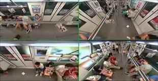 【動画】上海の電車の中で乗客が突然失神したら…