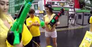 【動画】韓国の水鉄砲まつりが若干エロいと話題に