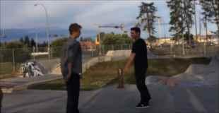 【動画】スケーター同士のリアルファイト