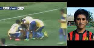 【閲覧注意】サッカーの試合で得点決めて宙返りしたら死亡…。