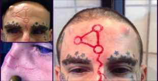 【画像】顔に傷を入れるタイプのタトゥーがヤバすぎる