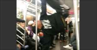 【動画】電車の中でダンスバトル始めちゃう奴らがカッコ良過ぎる