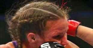 【閲覧注意】格闘技UFCの試合で女性選手の耳がちぎれる