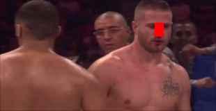 【動画】格闘技の試合で膝蹴りを喰らった選手の鼻が…