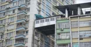 【画像】高層マンションのベランダを拡張して隣のマンションと繋げてしまう中国人