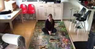 【画像】世界最大級のパズルを一人で完成させた女の子
