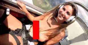 【動画】美女の巨乳が飛行機のGでどのくらい揺れるのか検証した動画wwwww