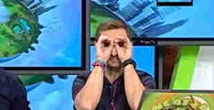 【海外テレビ】爆乳お天気お姉さんのハミ乳ブラチラのエロハプニング動画www