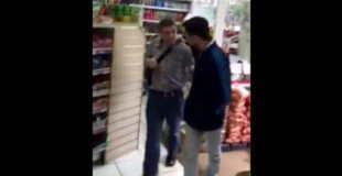 【犯罪】万引き犯をビンタ連打して帰らす店員を撮影した動画。