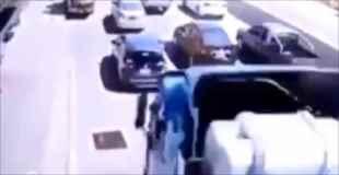 【動画】トラックのブレーキが壊れた状態で走った結果