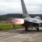 【音注意】戦闘機『F-16』のアフターバーナーのテスト動画。