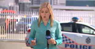 【動画】スーハ―いいながらレポートするブロンド女性レポーターw