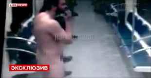【動画】ロシアの地下鉄に全裸男現る