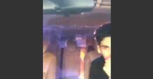 【動画】自動車の燃料漏れで車内が火の海に…。