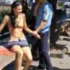 【エロ注意】半裸の美女が街中を徘徊してたので逮捕w