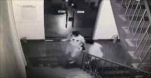 【衝撃映像】中国の強盗強姦男⇒抵抗されて思いっきり顔面を踏みつける