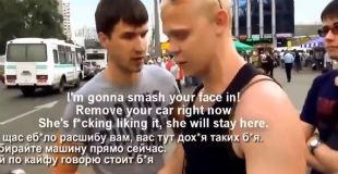 【おそロシア】バス乗り場に駐車しようとしているDQNに注意を促していたら、まさかの殴り合いのケンカに発展www