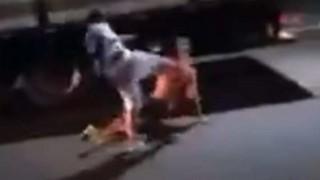 【動画】人を殺すには顔面をこのくらいで蹴ればいいらしい