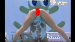 【動画】シンクロナイズドスイミングの演技中のハミマン!?なハンパない食い込みwww