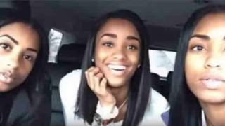 【衝撃動画】双子の娘とあまりにも似すぎて三つ子に見える親子。