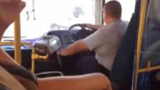 【衝撃動画】バスの運転してたらハンドルがとれちゃったんだけど…。