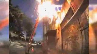 【事故動画】電柱の工事中に電線の電流が暴発…。