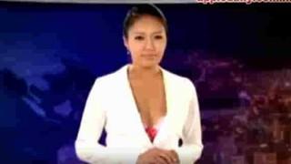 【動画】韓国のニュース番組で女子アナがどんどん服を脱いでるぞwww