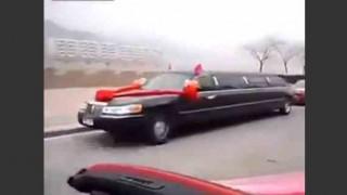 【衝撃動画】中国の大金持ちの結婚式での大名行列がハンパない件www