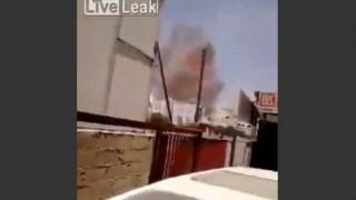 【衝撃動画】武器庫を空爆したときの衝撃波のすさまじさがわかる動画…。