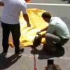 【動画】バスに頭を踏みつぶされてしまった女性の遺体の回収現場の動画※閲覧注意