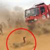 無茶したジャーナリストがレーシングトラックに踏まれて内臓破裂。色々とぶっ飛んでるなこれ。