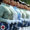 【パイスラ注意】中国軍医療チームの看護婦の胸を強調したパイスラにしか目がいかないwww※画像9枚