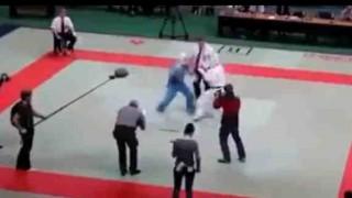 【衝撃動画】結果、審判が一番強かったフルコンタクト空手の試合wwwww